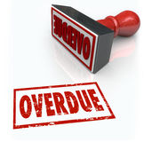 Overdue Stamp Late Payment Delayed Response Past Deadline Royalty Free Stock Image