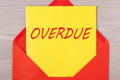 Red Overdue Envelope royalty free stock photos