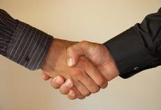 Overeenkomst - handdruk. Royalty-vrije Stock Afbeeldingen