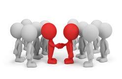 Overeenkomst over Samenwerking stock illustratie