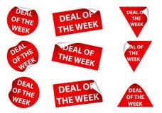 Overeenkomst van de Week Stock Afbeeldingen