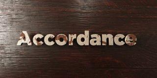 Overeenstemming - grungy houten krantekop op Esdoorn - 3D teruggegeven royalty vrij voorraadbeeld stock illustratie