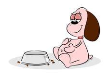 Overfed Cartoon Puppy Dog stock illustration
