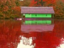 autumn on herastrau lake Royalty Free Stock Photography