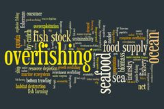 overfishing Photo stock