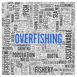 OVERFISHING Concept Word Tag Cloud Design Royalty Free Stock Images