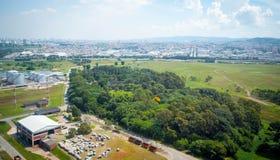 Overflight i flygplats för São Paulo Brazil helikoptercongonhas arkivbild