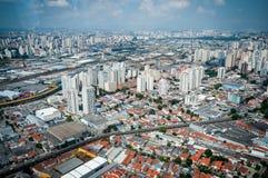 Overflight i flygplats för São Paulo Brazil helikoptercongonhas royaltyfria bilder