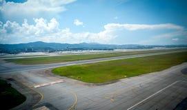 Overflight i flygplats för São Paulo Brazil helikoptercongonhas arkivfoton