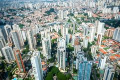 Overflight in São Paulo Brazil helicopter congonhas airport. Aerial Helicopter flight Money facility transport speed efficiency modernity technology big city stock image
