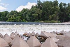 Overflow dam. Beach perelevnoy dam on the river Big Irgiz stock photo