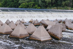 Overflow dam. Beach perelevnoy dam on the river Big Irgiz stock photography