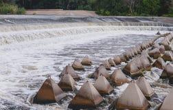 Overflow dam. Beach perelevnoy dam on the river Big Irgiz royalty free stock image