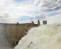Overflow del bacino idrico dell'esploratore Immagine Stock Libera da Diritti