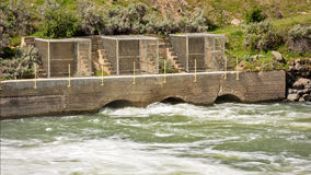 Overflow gates on a Dam located in Idaho Royalty Free Stock Images