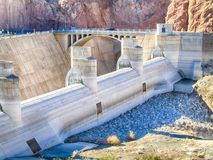 Overflow at Hoover Dam. Dried up overflow section of the Hoover Dam, giving you the sense of how much water is gone royalty free stock photo