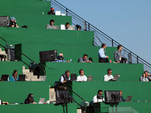 Overflow Media in the upperdeck AT&T park Stock Photo