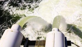 Overflow Pipes at Ballard Locks Stock Photos