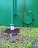 Overflow release of water from a storage tank Royalty Free Stock Photos