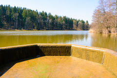 Overflow of water in the lake Royalty Free Stock Images