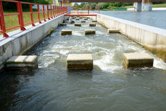 Overflow at weir Stock Photography