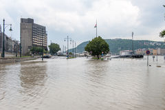 Overflowed Danube at Budapest Stock Images