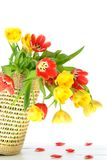 Overflowing basket Of Flowers Royalty Free Stock Images