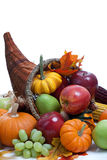 An overflowing cornucopia on a white background Stock Image