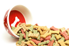 Overflowing Dog Treats Stock Image