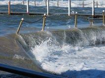 Overflowing ocean pool Royalty Free Stock Images