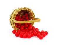 Overflowing Red Jelly Beans Basket Royalty Free Stock Image