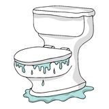 Overflowing Toilet. An image of an overflowing toilet Royalty Free Stock Image