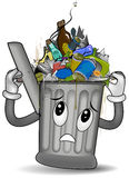 Overflowing Trash Can Royalty Free Stock Photography