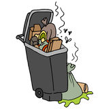 Overflowing trash can Stock Photography