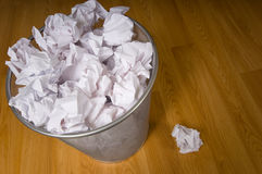 Overflowing Trashcan Stock Images