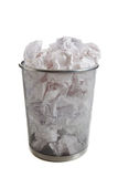 OVerflowing wastebasket Royalty Free Stock Images