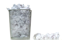 Overflowing Wastebasket Royalty Free Stock Photo