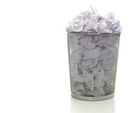 Overflowing Wastebasket Stock Image