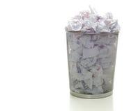 Overflowing Wastebasket stock image