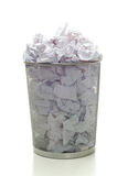 Overflowing Wastebasket Royalty Free Stock Photos