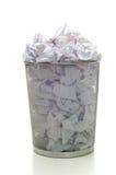 Overflowing Wastebasket Royalty Free Stock Photos