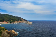 Overflying the island of Elba Royalty Free Stock Photos