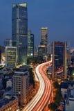 Overgaand door de Stad, Shanghai Royalty-vrije Stock Afbeelding