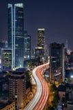 Overgaand door de Stad, Shanghai Royalty-vrije Stock Foto's