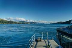 Overgaand door Franse Pas van het oosten, Marlborough-Geluiden, Nieuw Zeeland royalty-vrije stock foto