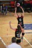 Overgaand Lucie Smutna - Volleybal Stock Afbeelding