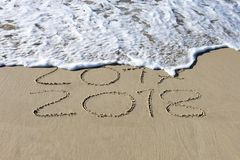Overgaand tot het nieuwe jaar, 2017 tot 2018 Stock Afbeeldingen