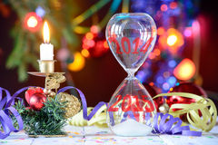 Overgang naar het nieuwe jaar 2014 2015 Royalty-vrije Stock Foto