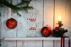 Overgang naar het nieuwe jaar Royalty-vrije Stock Fotografie