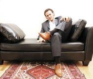 Overgebelichte zakenman royalty-vrije stock foto